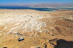 Vista del Mar Muerto y Jordania