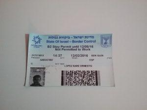 visado para israel